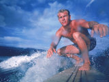 Surfer Nick Beck Riding His Surfboard in the Waters Off Hawaii