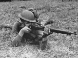 View of a Soldier Using a Springfield Rifle