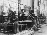Women Working on Production Line at the Krupp Munitions Works Factory During World War I