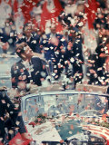US President John F Kennedy Receiving a Ticker Tape Parade During a State Visit to Mexico