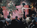 Topless Dancer Linda Bardot Performing at the Rainbow Grill