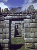Trapezoidal Entry Doors at Incan Ruins of Machu Picchu