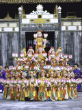 Traditional Dancers from Imperial City Gathering in Front of Palace