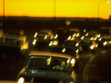 Santa Monica Freeway Traffic at Dusk