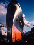 Prow of Texaco Oil Tanker Oklahoma at Sun Shipbuilding and Dry Dock Co Shipyards