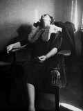 Woman Sitting in a Chair from a Story Concerning Clairvoyants
