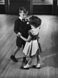 Young Boy and Girl Taking Dancing Lessons