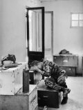 Marine Lance Corporal James C Farley Crying in Office over Death of Friends During Vietnam War