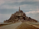 Mont St Michel Crowned by Abbey Built by Monks in the 13th Century