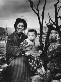 Mother and Child in Hiroshima  Four Months After the Atomic Bomb Dropped