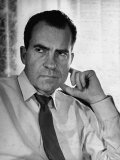 Vice President Richard Nixon with His Tie Loosened  in Shirt Sleeves in His Office