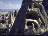 Soft Eroded Rocks in Valley of Goreme Where Byzantine Monks Carved Cells and over 300 Churches