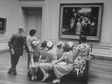People Admiring Paintings at the National Gallery of Art