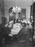 President Harry S Truman Chatting with Members of Congress at a Dining Table