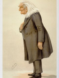 Portrait of Hungarian Composer Franz Liszt by Spy from English Periodical Vanity Fair