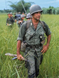 US Army Captain Robert Bacon Leading a Patrol During the Early Years of the Vietnam War