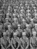 Rows of WACs After Having Put on Their Gas Masks For Training Drill  Fort Des Moines