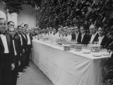 Waiters and Bartenders Waiting to Serve at the Alba Wedding