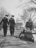 Sailors Eyeing Girls Legs  Capitol Building in Background