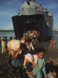 Vietnamese Refugees Arriving From Cambodia