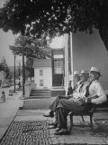 The Bench in Front of the Pawling National Bank is a Gathering Place For Men of the Town