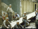 "Men from Demolition Crew on Their Break in Story ""The Wreckers"""