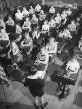 School Children Listening to Letter from Mrs Chiang Kai Shek Regarding Aid to China