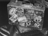 View of Congressman George H Tinkham's Suitcase After His Trip