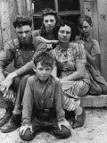 Portrait of Dust Bowl Farmer John Barnett and His Family