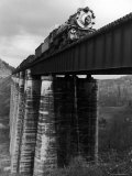 Southern Railway Train on Trestle Bridge 210 Foot Tressel over the North Broad River  Georgia