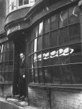 Tailor to All the Gentlemen of Winchester College Albert Gard  Standing in the Doorway of His Store