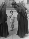 Two Nuns Questioning a Little Chinese Girl at the American Mission School For Chinese Children