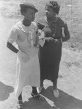 Two African American Women in Their Sunday Best in the Southern United States