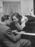 Patricia Kirkland and Tom Beck Acting Out a Famous Hollywood Piano Scene  During Actor's Weekend