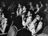 Teenage Audience Indoors at the Movies