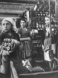 Young Girl Apprentices Working in the Spinnery Section of the Rope Factory