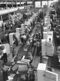 Refrigerators on Assembly Line at General Electric Plant