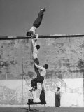 Prisoners Doing Gymnastics at San Quentin Prison