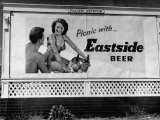 Starlet Colleen Townsend Posing in a Beer Advertisement on a Billboard