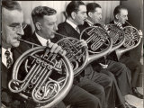 View of the French Horn Section of the New York Philharmonic