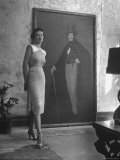 View of a Harper and Vogue Model in Designer Clothes