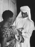 Sister Joseph Theresa Caring For Child Sick from Hunger