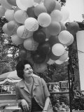 Mrs Lyndon B Johnson with Balloons at an Outdoor Art Fair in Washington