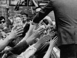 Senator Robert F Kennedy Campaigning in Indiana During Presidential Primary