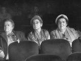 "Three Elderly Ladies Watching ""Carmen"" in New York Theater"