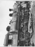 Steam Locomotive at Shaffers Crossing in the Norfolk and Western Railway Yard