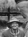 Vietnamese Montagnard Man Smoking Cigarette