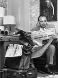 Senator Joseph R McCarthy Reading Newspaper