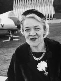 Senator Margaret Chase Smith on Grounds of Air Force Academy