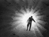 Monsanto Inspector Groping His Way Through Calciner  Type of Furnace